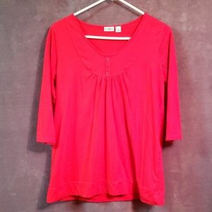 Cato 3/4 Sleeve Blouse Size M